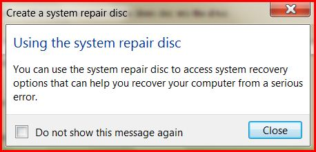 Using the System Repair Disk