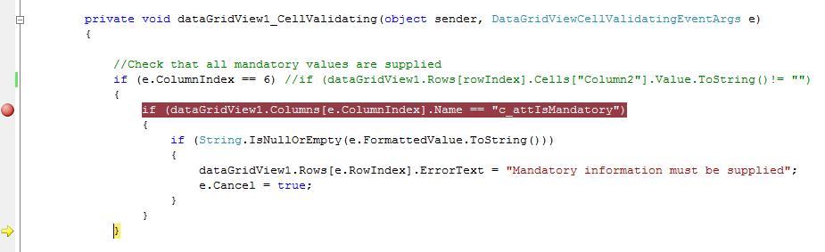 Datagridviewcellvalidatingeventargs