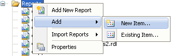 Creating a new Reporting Services report