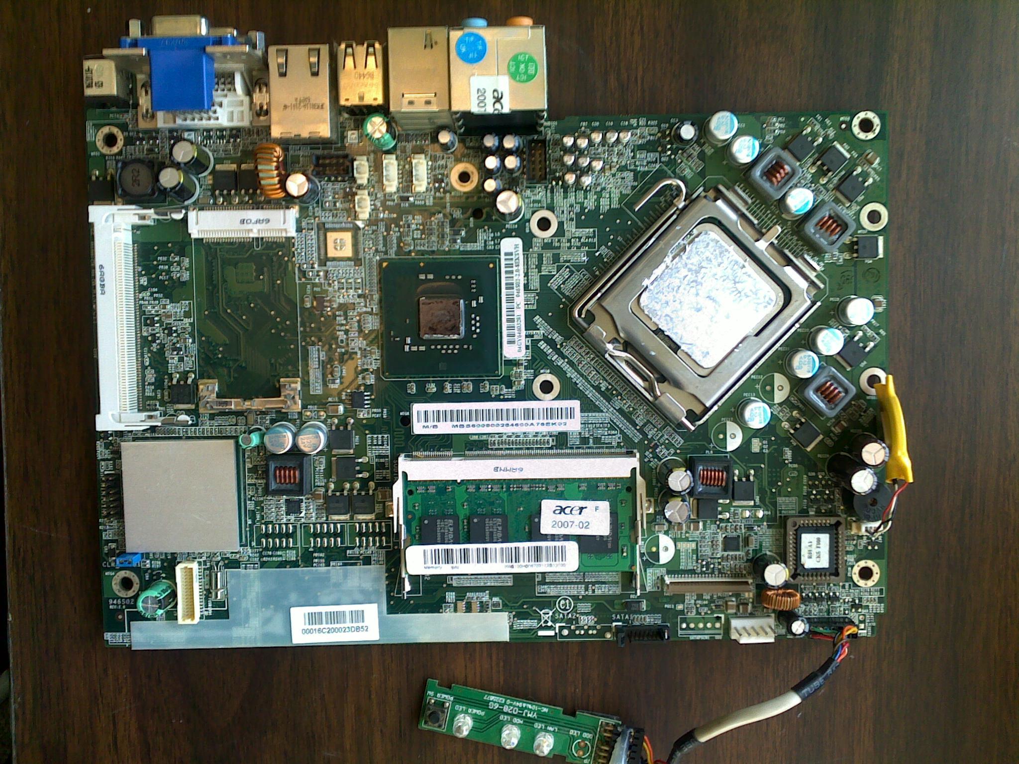 Acer Aspire L310 motherboard problem