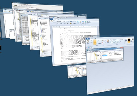 3D flip -- Yes, it's available in Win7