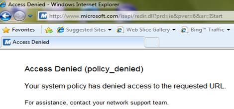 Access Denied (Policy_Denied)