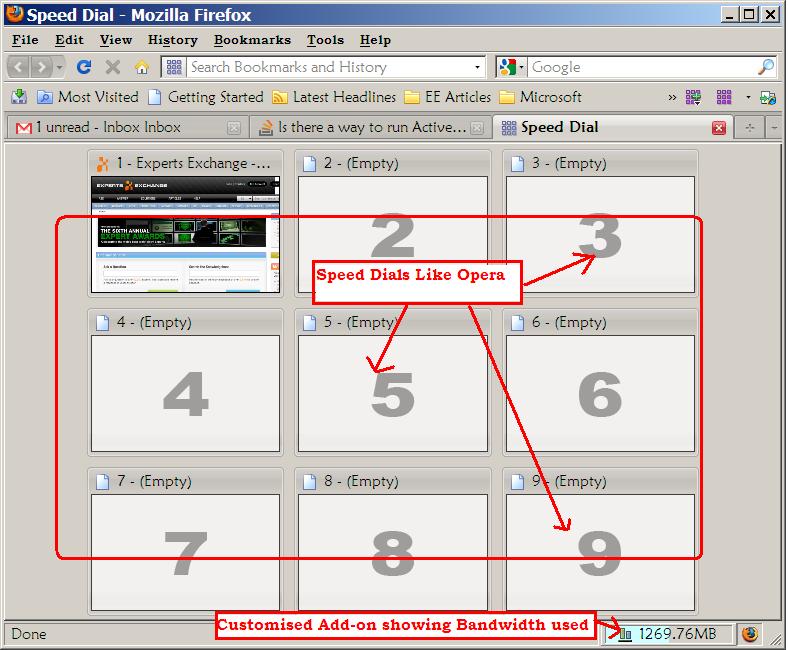 Firefox Interface