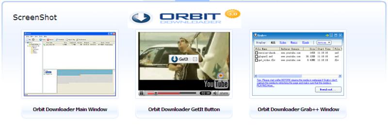 Screenshots of Orbit Downloader