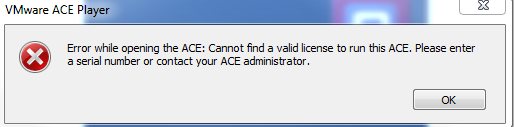 VMWORKSTATION 7 ACE Portable VM serial number issue