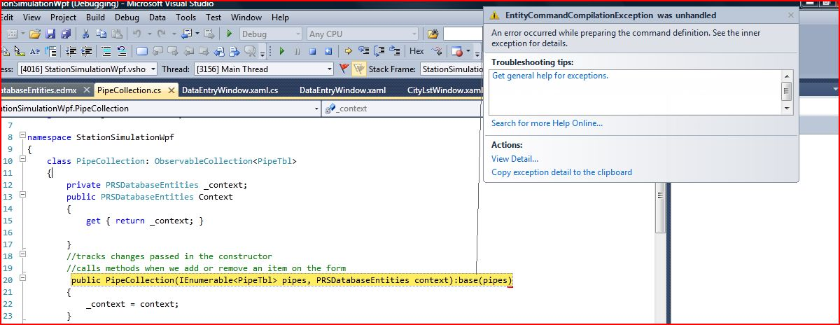 how to set up entity framework code first