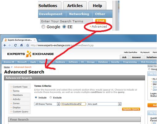 Advanced Search -- starts a new search