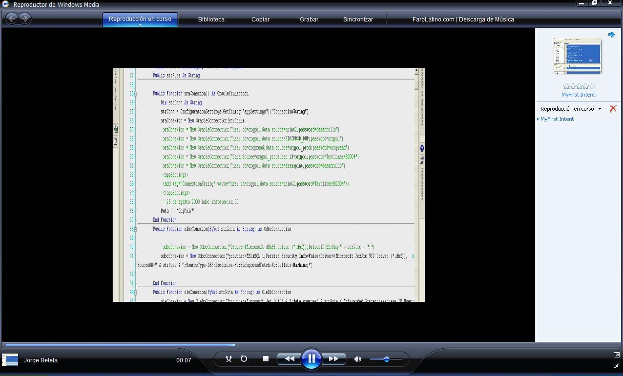 I created a tutorial video with Windows Media Encoder 9 and
