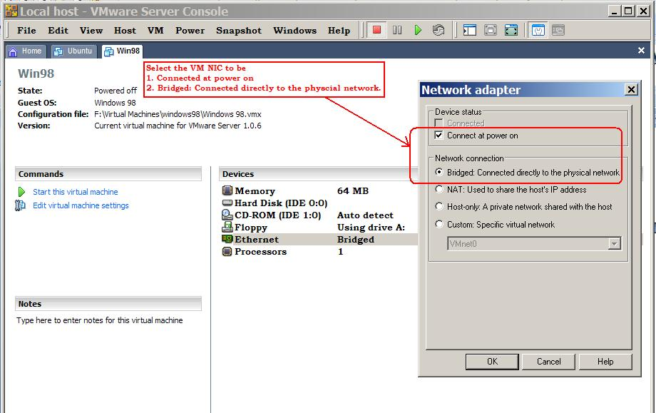 Understanding Static Routes using VMware Server