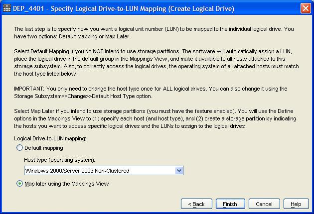 Create Lun - Mapping