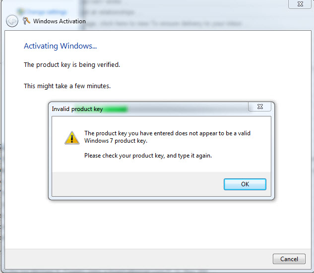 how to fix windows 7 activation product key