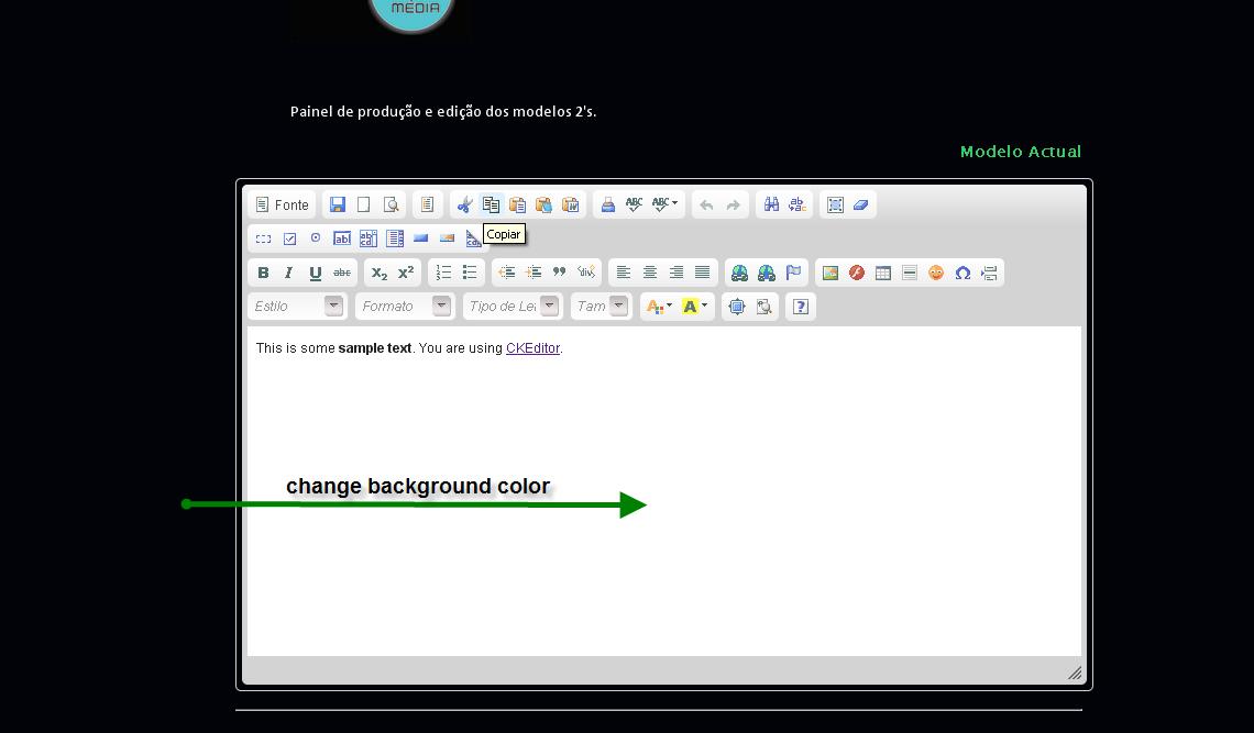 SOLUTION] Ckeditor - Change background color