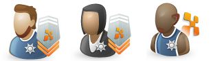 "EE Admins, Mods, ZAs, PEs,.. have ""sheriff badges"""