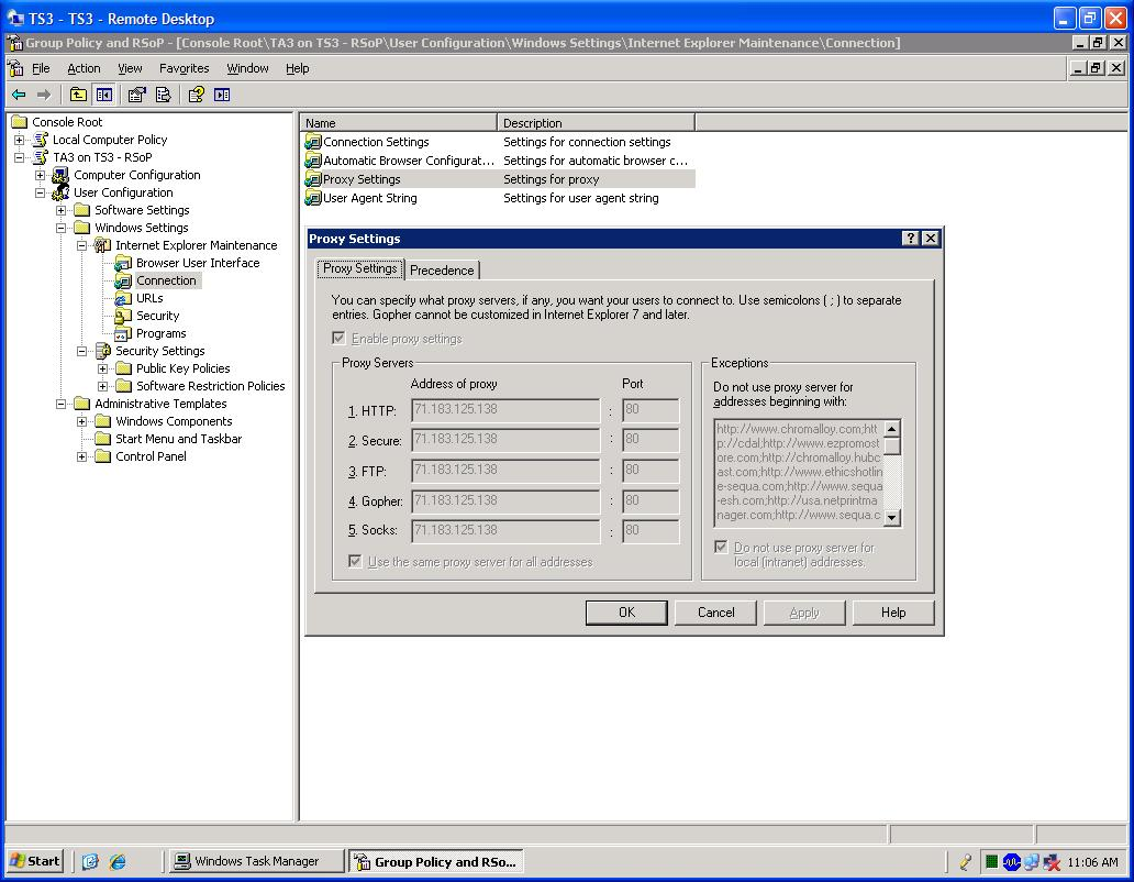 Group Policy and RSoP shows policy being applied but does not work