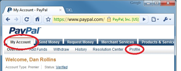 Get to PayPal's Create a Button page