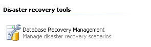 Database Recovery Management Link