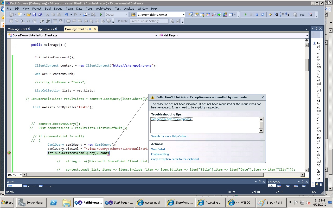 Accessing document library in Sharepoint 2010 from Silverlight