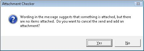 Outlook Attachment Checker Warning Message