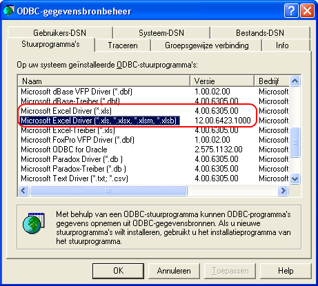 odbcad32.exe - ODBC Data Source Administrator