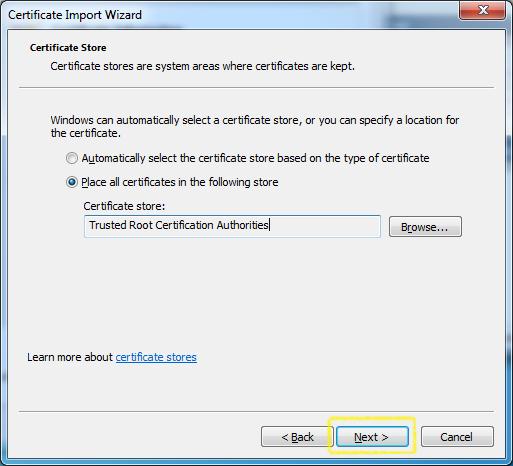 Certificate Import - Certificate