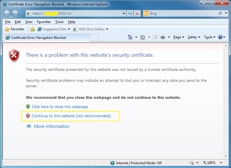 Certificate Not Trusted