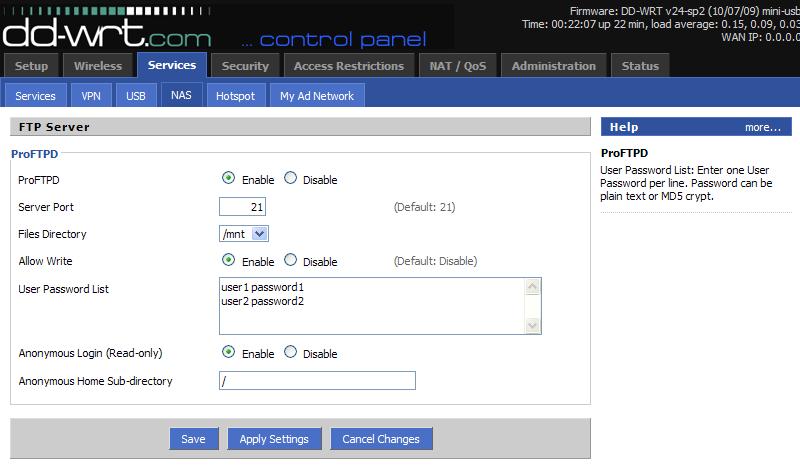 DD-WRT USB HARD DISK Network Sharing on windows & linux box