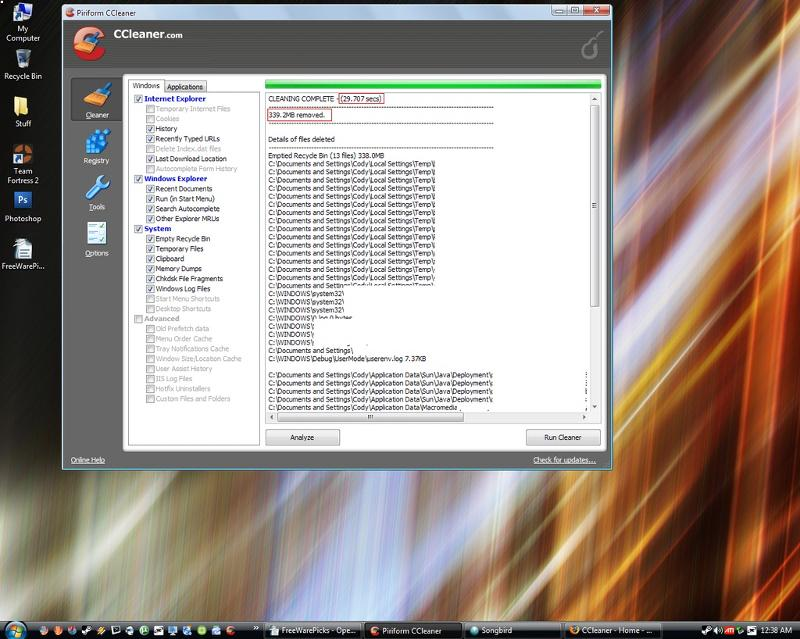 CCleaner Disk Cleanup