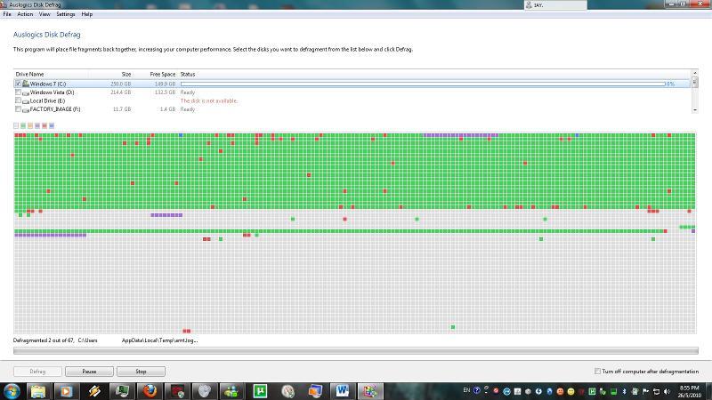 Auslogics Disk Defragmenter