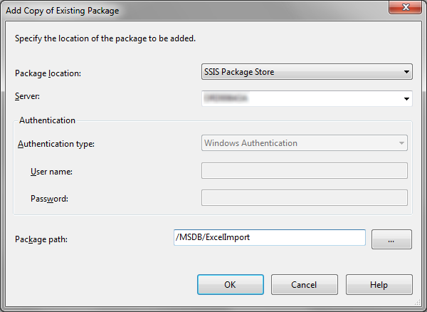 Add Copy of Existing Package