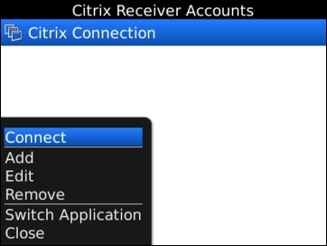 Citrix Receiver for BlackBerry 3