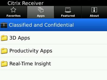 Citrix Receiver for BlackBerry 4