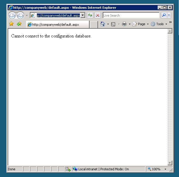 When trying to open companyweb
