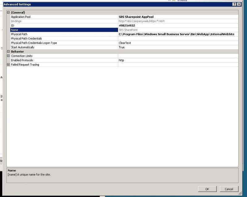 Adv settings  for sharepoint