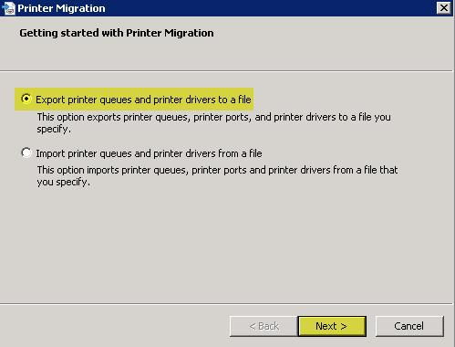 Migrating Printers from Server 2003 x32 to Server 2008 R2 x64