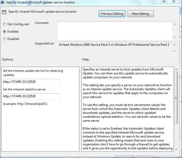WSUS 3 0 SP2 Installation Problem
