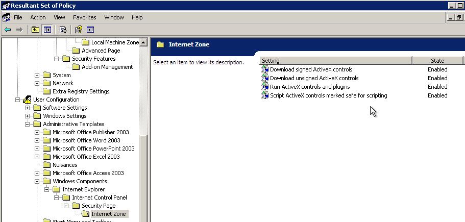 SOLUTION] Enable ActiveX In Internet Explorer Via GPO