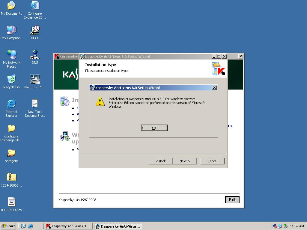 I have a window server 2003 which software should i install.