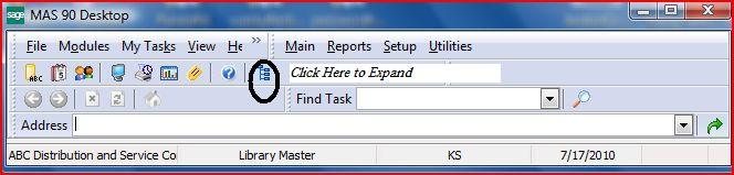 Mas90 Task Bar