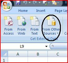 Excel From other Sources