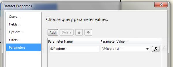 Setting up the parameter on dsInternetSales