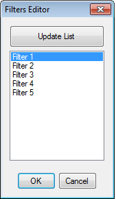 Filters and Saved Searches Editor