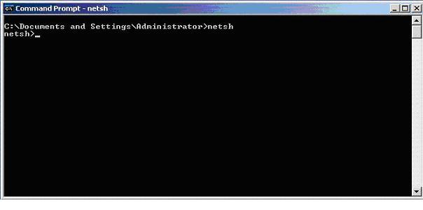 NETSH utility