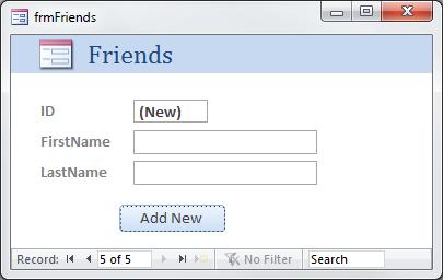 New Friend Form