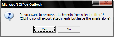 Option to remove attachments or just export