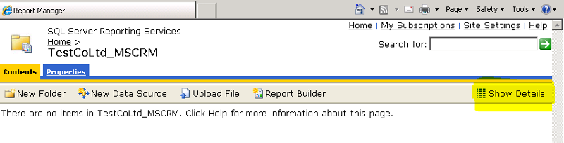 Report Manager Show Details Button