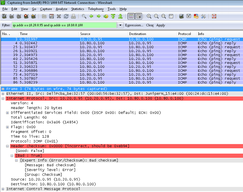 Wireshark capture - from Vista