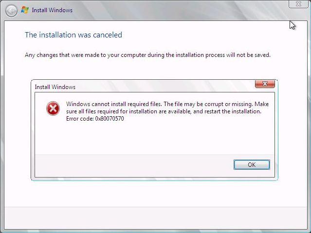 Error at 34% Expanding Windows Files