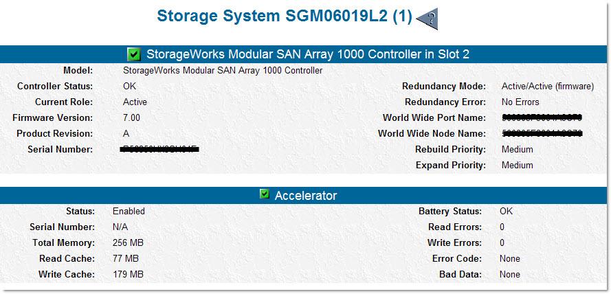 HP MSA1000 - Fibre Channel Controller Replacement - WebTools