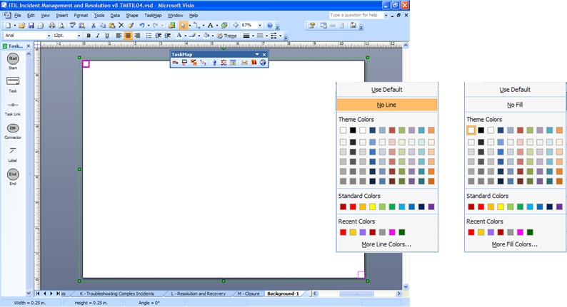 Visio background page