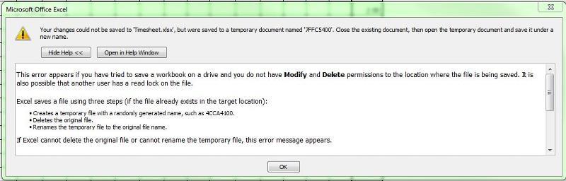 Information about error